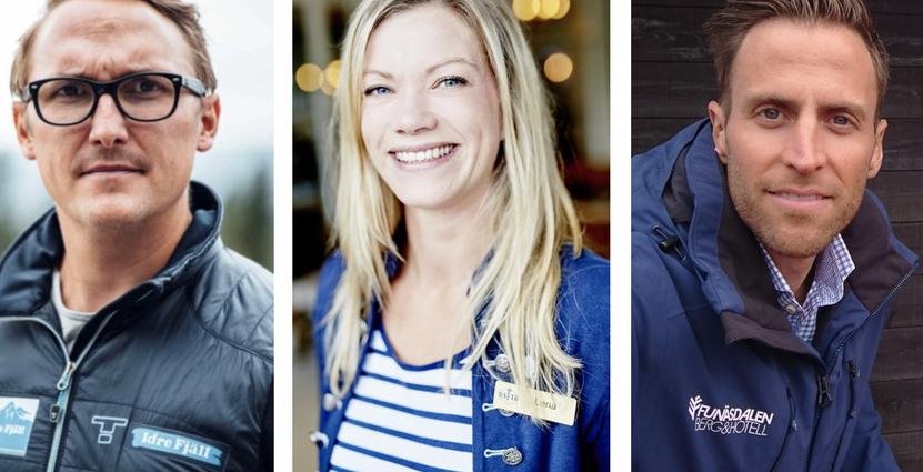 Tommy Halvarsson, Idre Fjäll, Lena Kempe, Daftö<br /> och Ted Wengler, Funäsdalen Berg & Hotell.