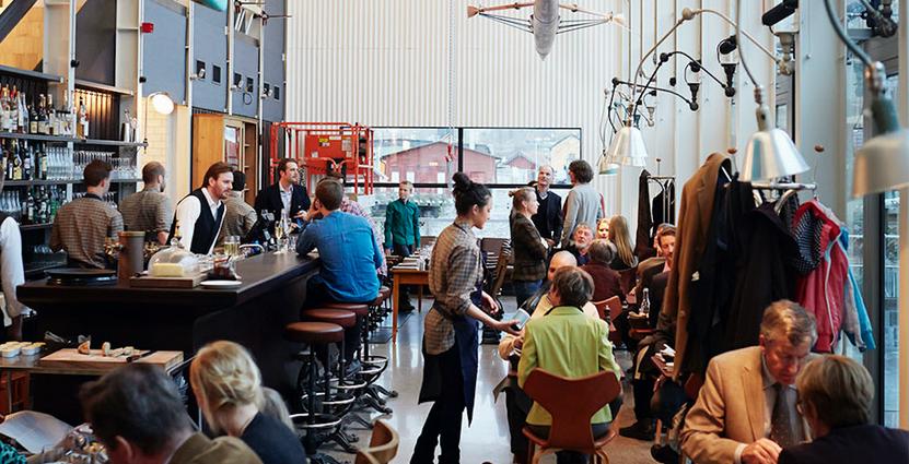 Första kulturklubben är et samarbete mellan Oaxen Slip och Brombergs förlag. Foto: Oaxen Slip