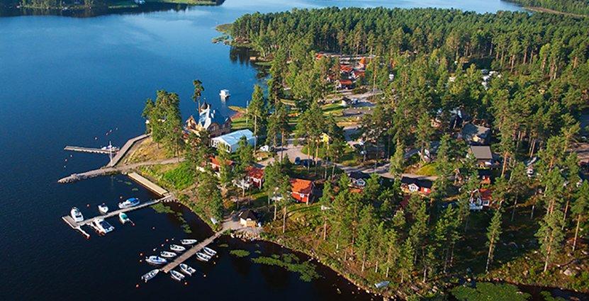 Eko-hotellet ska rymma ett femtiotal hotellrum, spa,<br />  konferenslokaler, restaurang och trädgårdsodlingar. Foto: Gunnar Ridderstedt