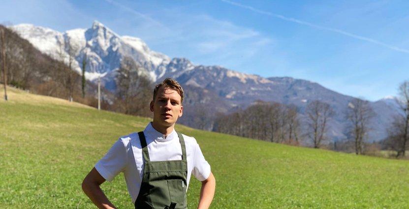 Felix Ahlin, på plats i Slovenien.