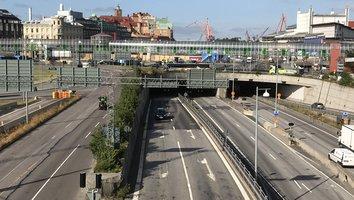 Avfart från Götatunneln mot Centralen tillfälligt stängd