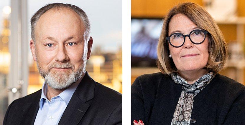 Jonas Siljhammar, vd Visita och Karin Johansson, vd Svensk Handel. FOTO: Pressbild/Svensk Handel
