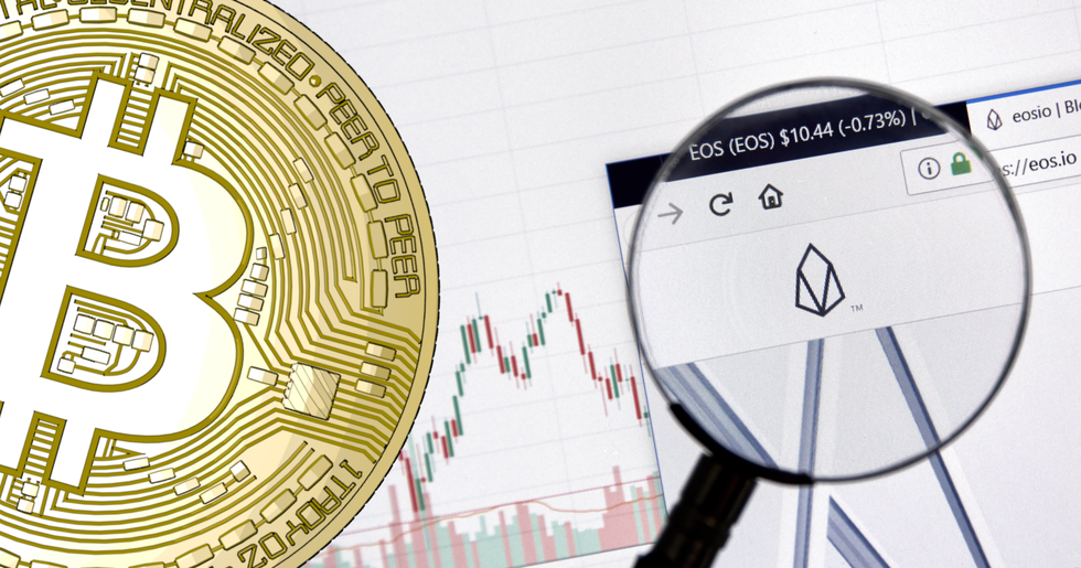 Small declines in the crypto markets – eos loses the most.