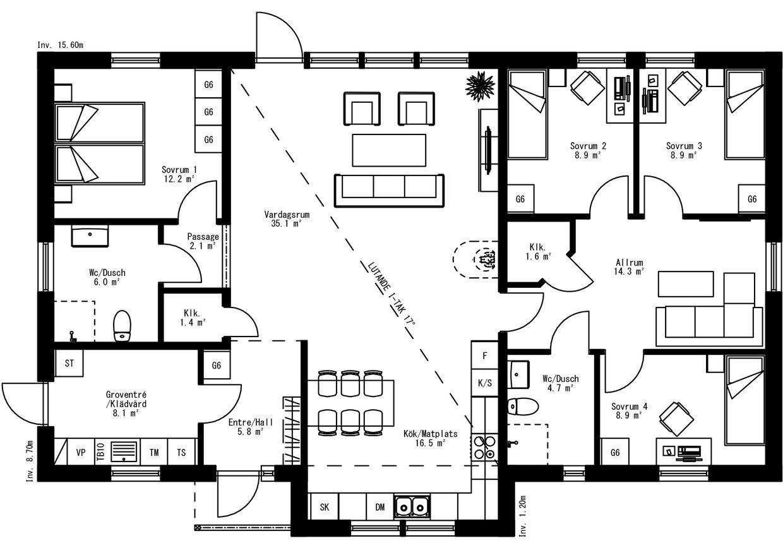 Planritning för Villa Nässland
