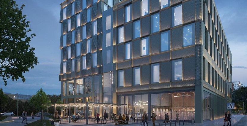 Winn Hotel Groups bygger nytt hotell i Norrköping. Bild: Reflex arkitekter