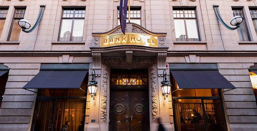 Att vara en del av Small Luxury Hotels ger Bank Hotel ett erkännande<br />  på den internationella marknaden. Foto: Pressbild