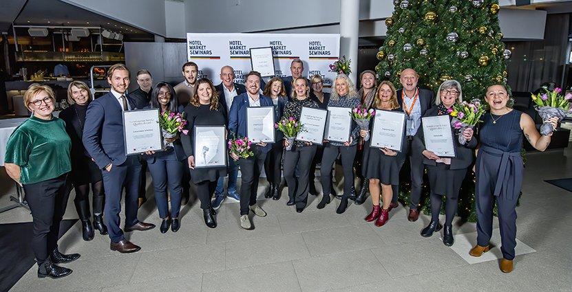 Glada vinnare av SSQ Service Award 2019. Foto: @kgzagency