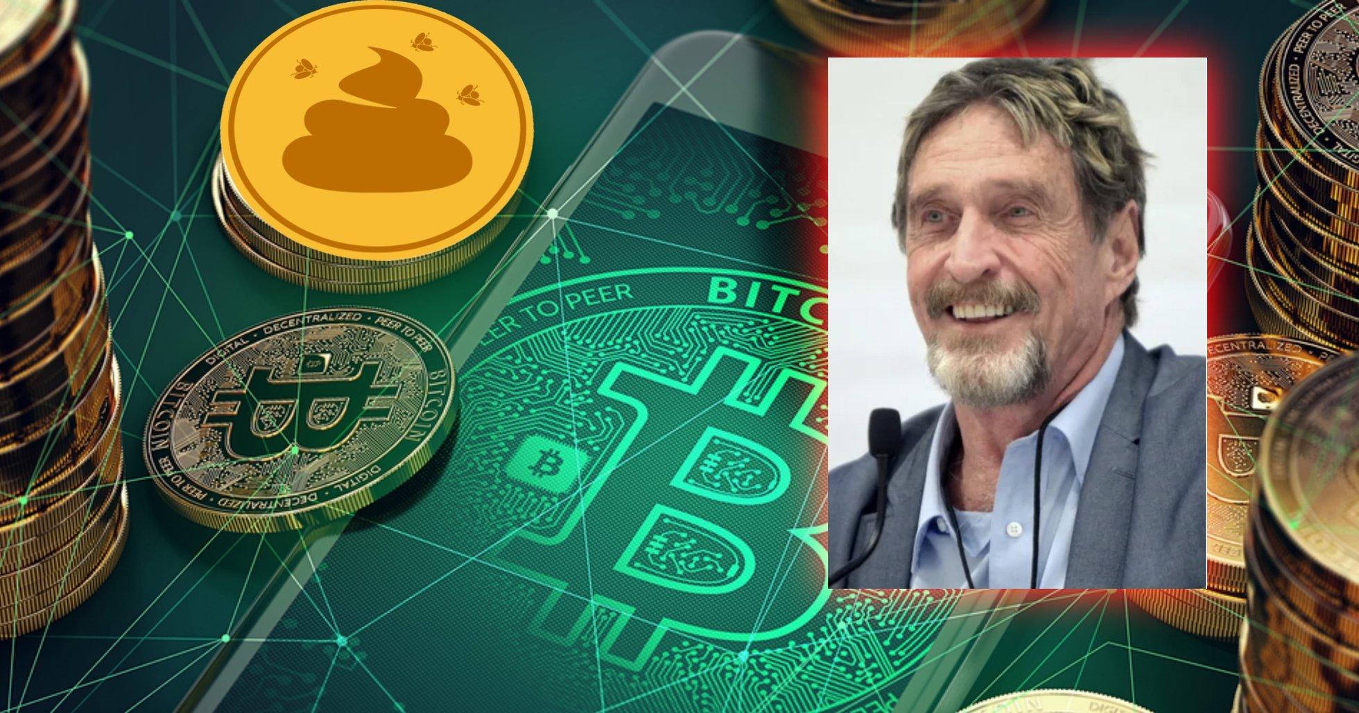 Efter penislöftet: Nu kallar John McAfee bitcoin för