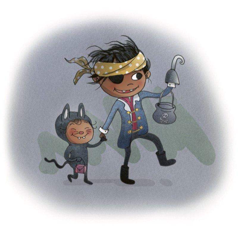 Klä barnen som barnbokskaraktärer på Halloween