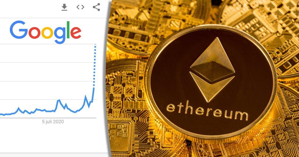 Antalet Googlesökningar efter ethereum når ny rekordnivå