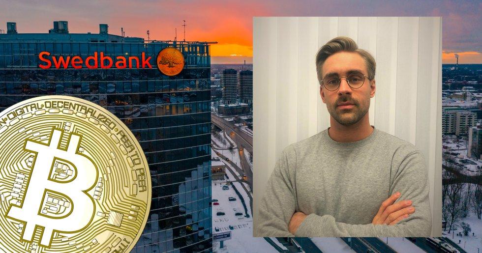 Simon, 26, ville handla kryptovalutor – då vägrade Swedbank genomföra köpet.