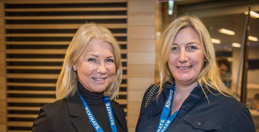 Chatrine Fritzell från Göteborg stads utbildningsförvaltning lunchade med Lisa Plumridge, Enveritas.