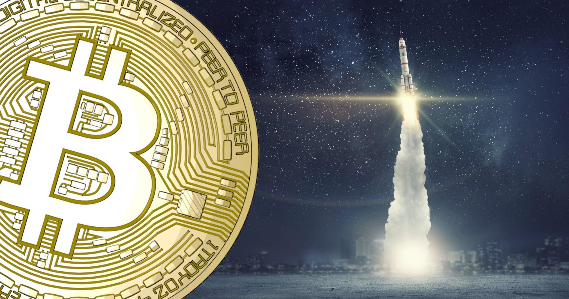 Bitcoinkursen på nytt årshögsta – närmar sig 10 000 dollar.