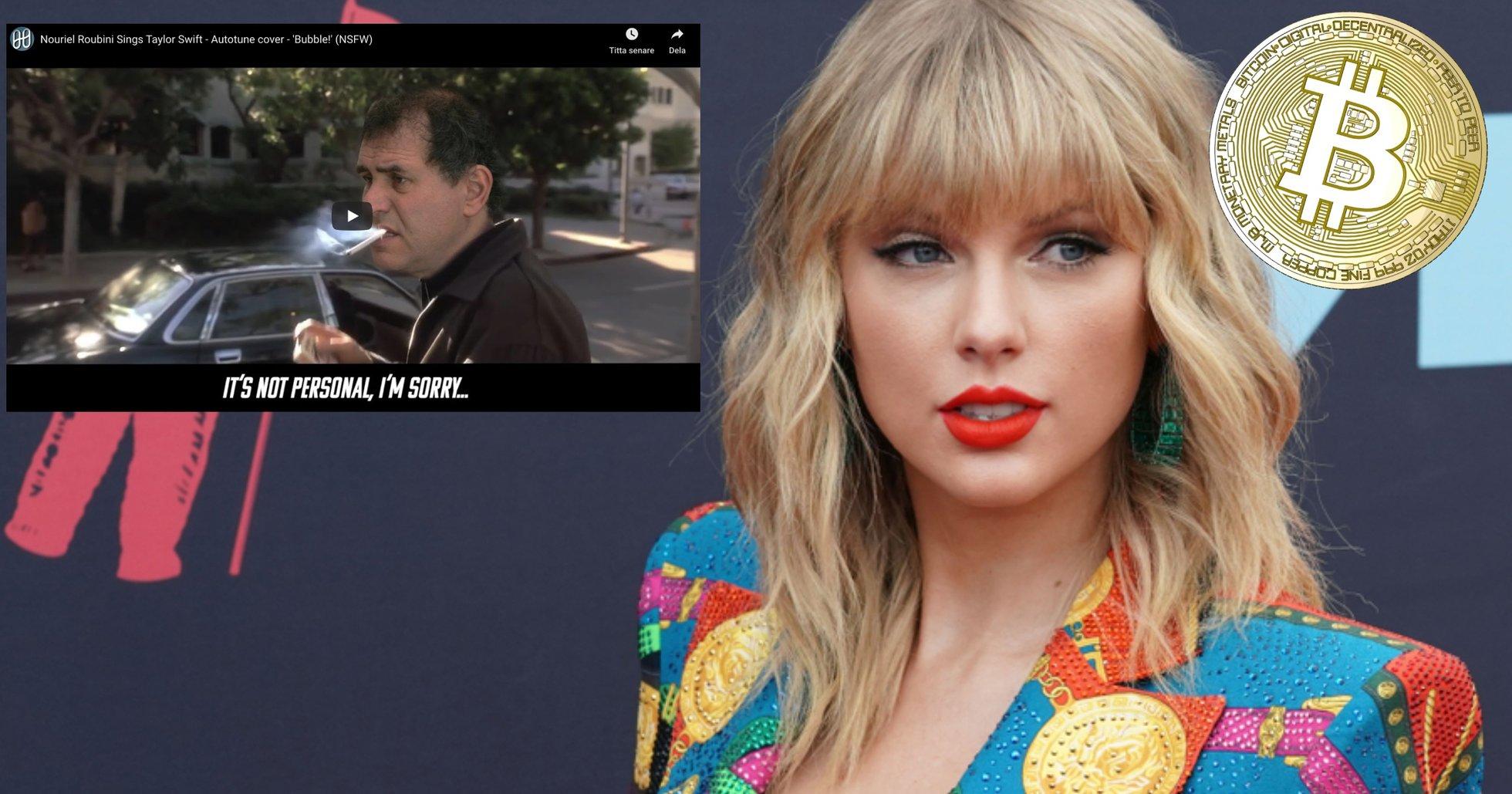 Dr Dooms bitcoinhat vädras i ny Taylor Swift-parodi