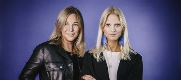 Podcastduon Camilla Ljunggren och Veronica Ericsson Lakso.
