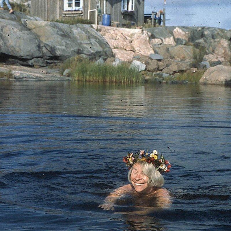 Med Tove Janssons brorsdotter Sophia på Klovharun: