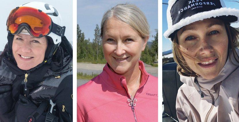Louise Söderlund, vd Isaberg, Hanna Aspebo, marknadskoordinator på Dundret och Sofie Andersson, vd Fjätervålen. Foto: Privat
