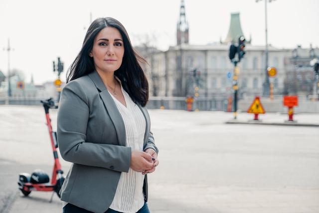 Tina Ghasemi Liljeqvist, Voi's senior policy manager in Sweden and Denmark.