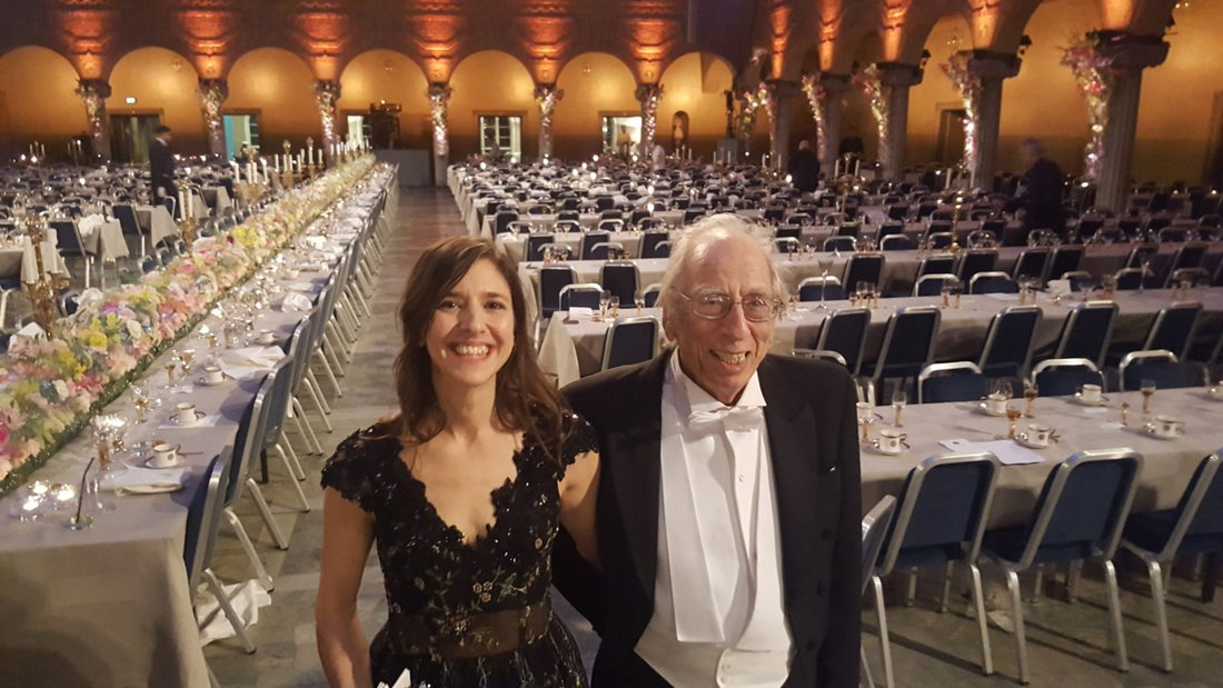Philomène Grandin och Izzy Young på Nobelfesten 2016. Foto: Privat
