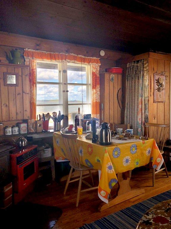 Köksbordet som Tove jobbade vid