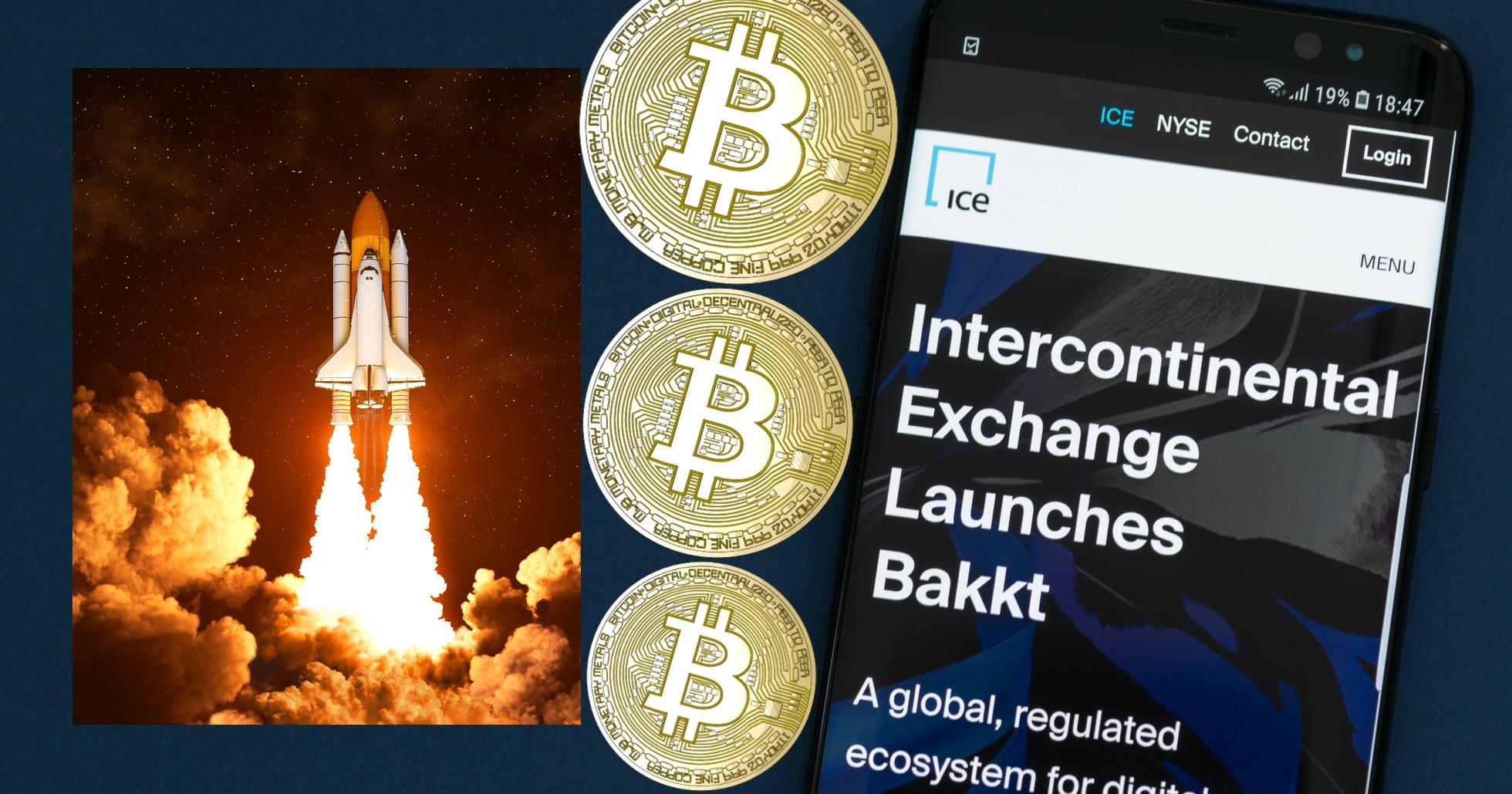 Handelsvolymen för Bakkts bitcoinkontrakt rusar med 796 procent.