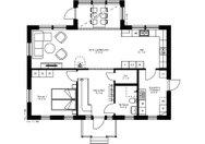 Se planritning för Villa Skule