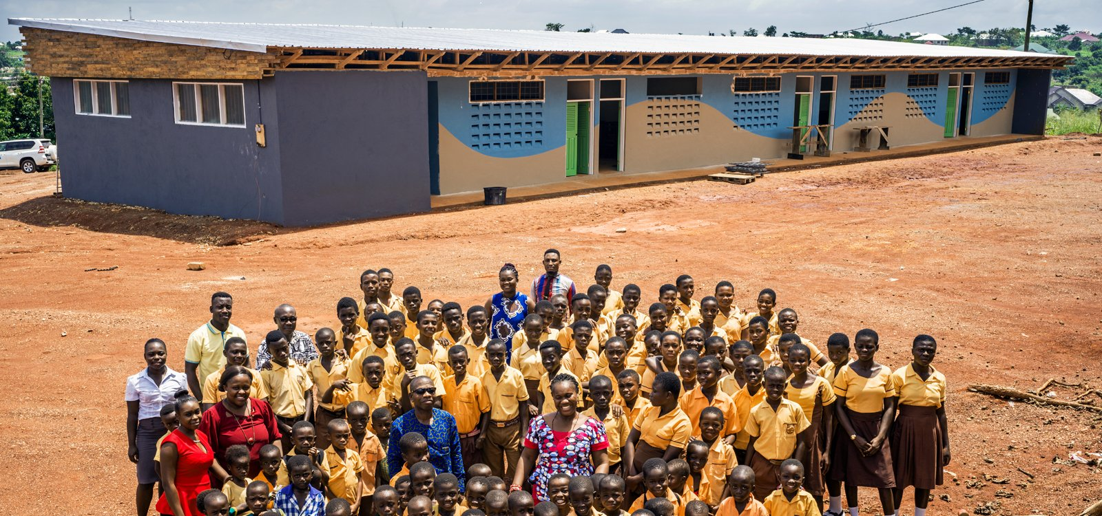 Local Sandvik leadership was able to finance construction of a six-classroom block, and the new classrooms were ready by early 2018.