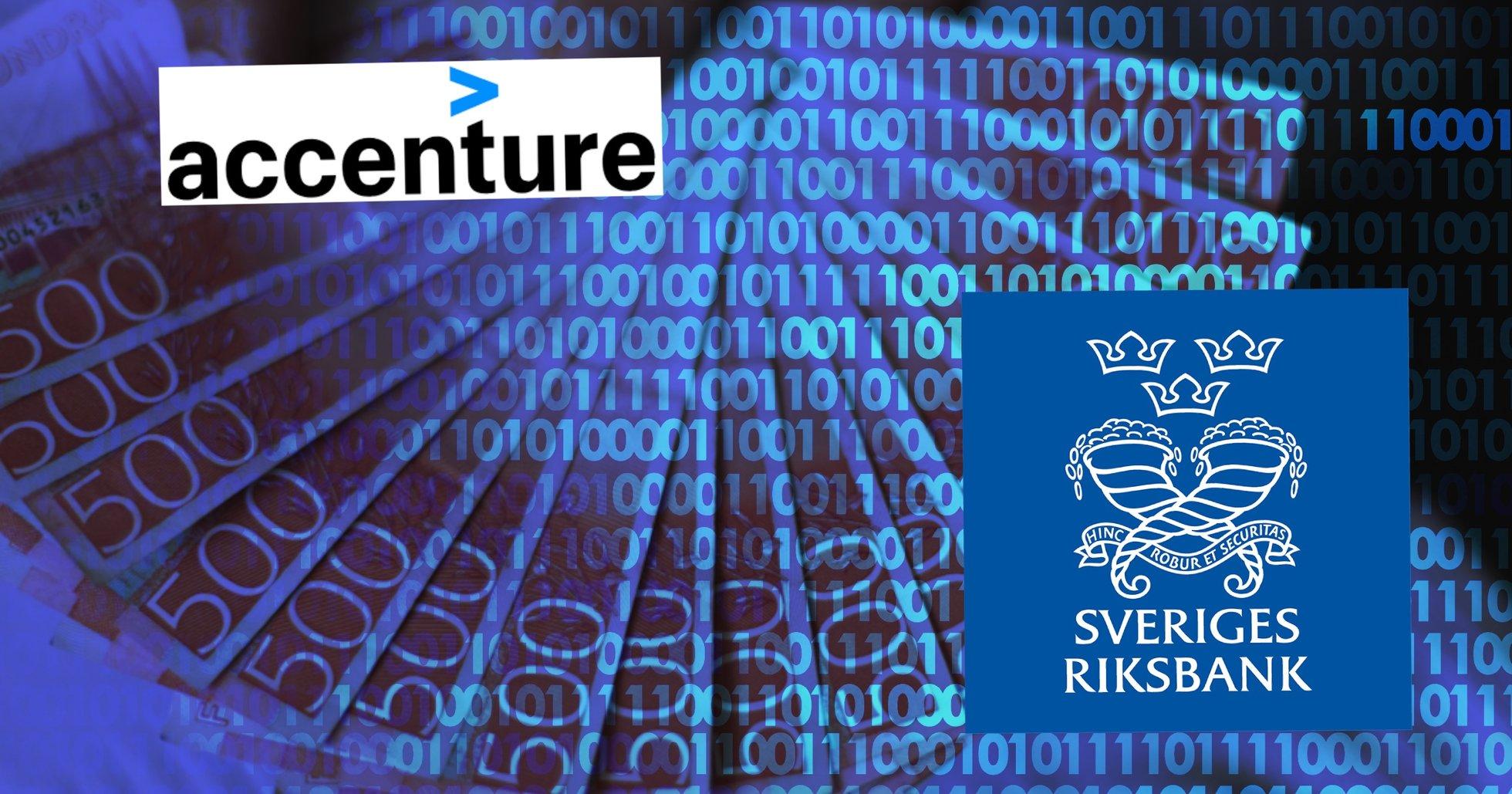 Accenture ska utveckla Riksbankens e-krona – satsar stort på kryptovalutor