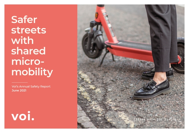 Voi publishes annual Safety Report and commits to spearhead safety reporting towards Vision Zero