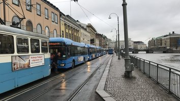 Kollektivtrafiken läggs om under demonstration