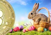 Bitcoinpriset fortsatt volatilt under påsken – ner 9 procent sedan i går kväll