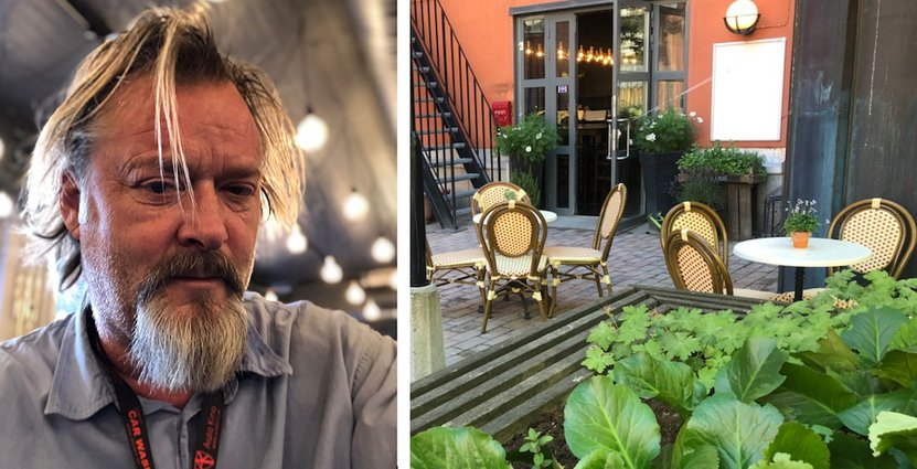 Det ser mörkt ut för Mikael Anderssons bistro i Vasastan. Lunchgästerna jobbar hemifrån i stor utsträckning och stödet från Tillväxtverket uteblir.  Foto: Privat