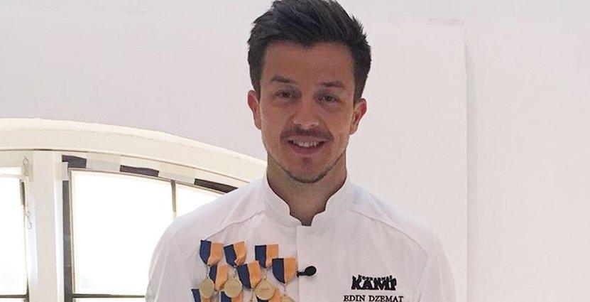 Höll på att åka ut i pastatävlingen. Ändå kammade Edin Dzemat medaljer som ingen annan i förra årets Kockarnas Kamp.