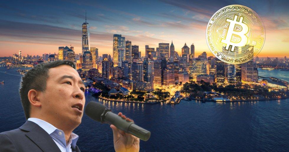 Andrew Yang tippas bli borgmästare i New York – vill göra staden till hub för bitcoin