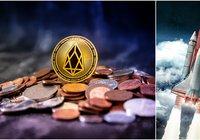 Eos rallies 22 percent on rising crypto markets