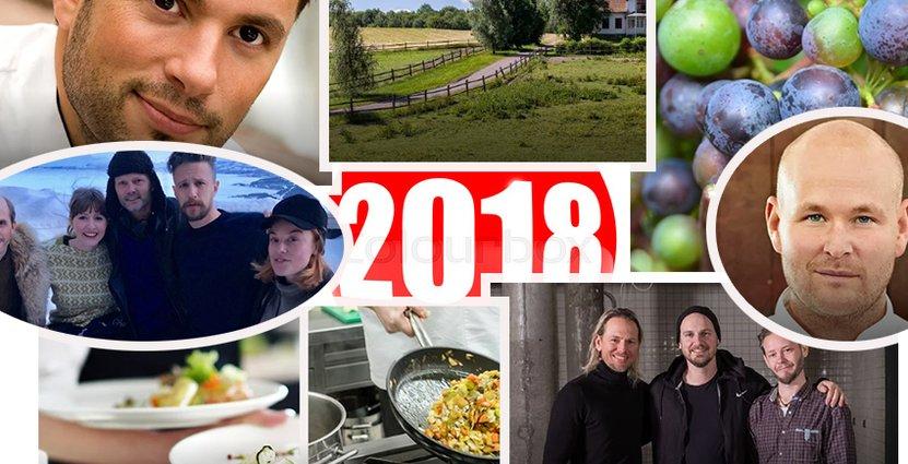 Från Gårdsförsäljning till Jureskog. En salig blandning<br />  av ämnen lockade till läsning under 2018. Foto: Montage