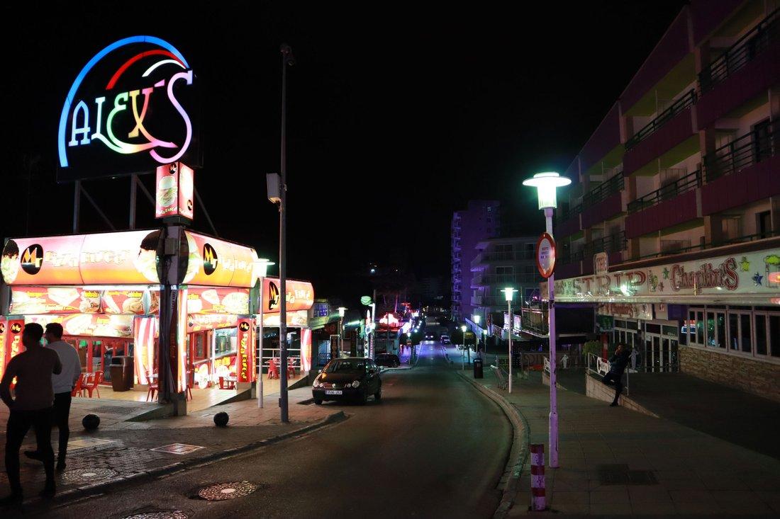 Magaluf, the strip, platsen där Emme försvann.