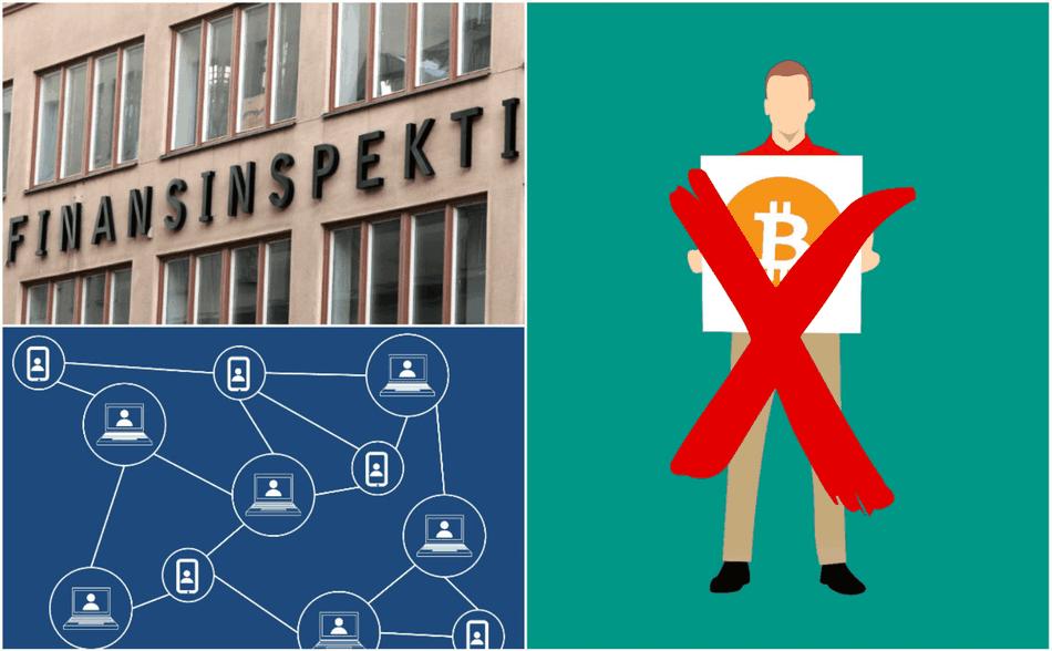 Finansinspektionen varnar för kryptovalutor.