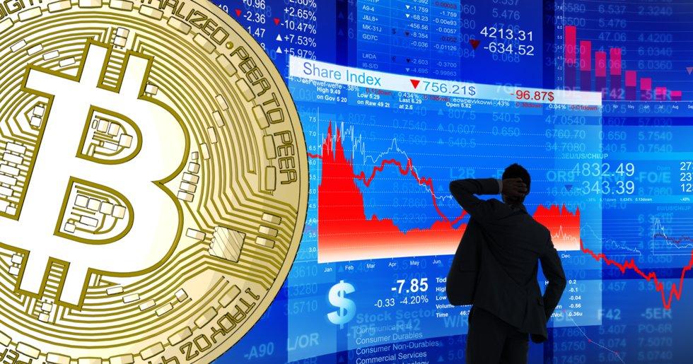 Nya fall på världens börser – även bitcoinpriset är ner 20 procent sedan i fredags.