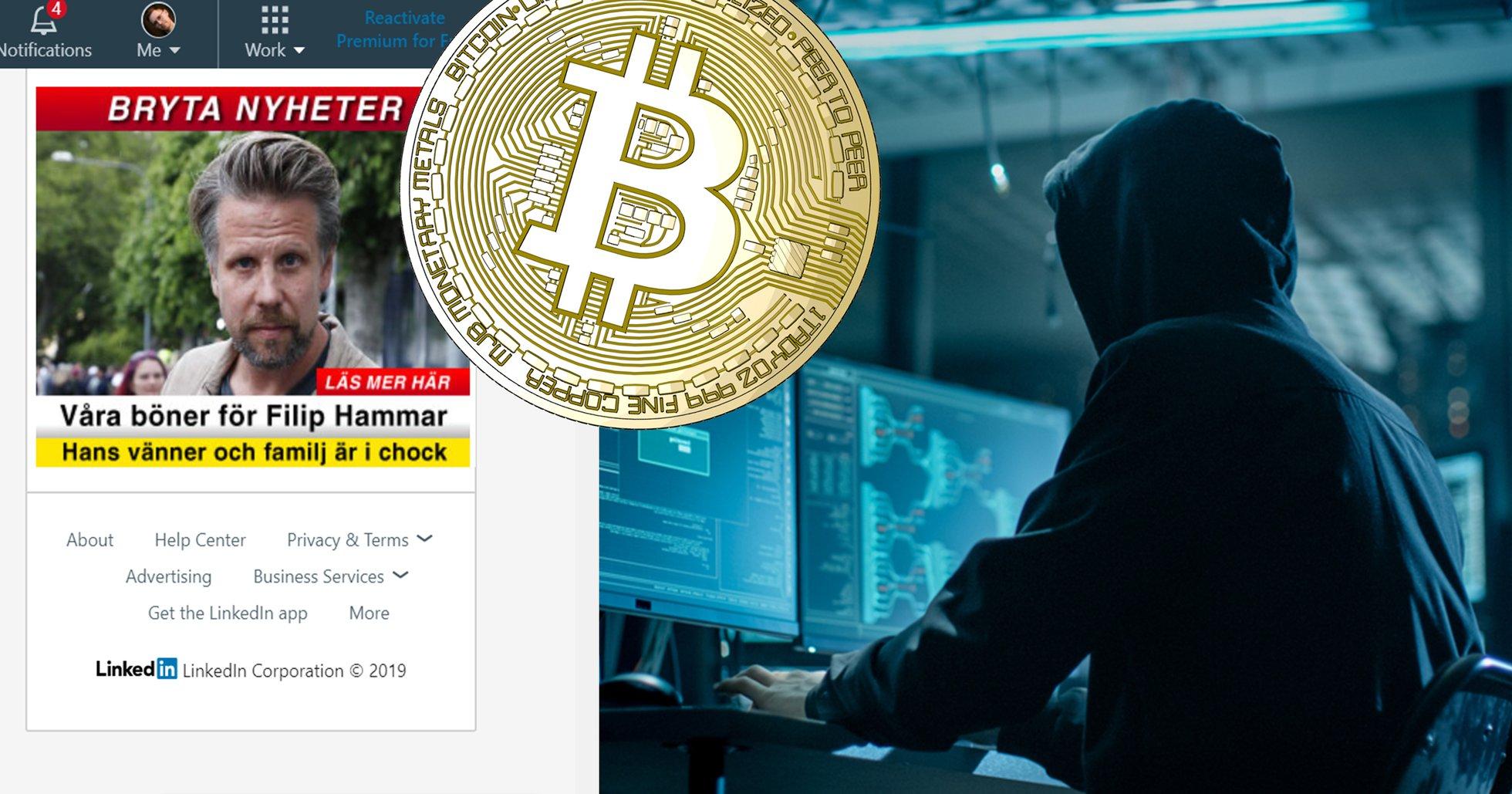 Nu har bedrägeriet Bitcoin Revolution spridit sig till Linkedin