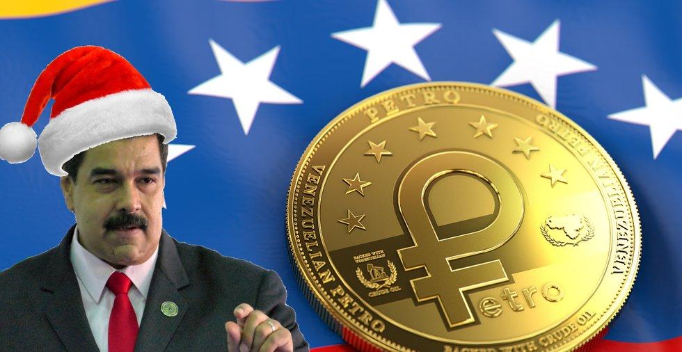 Venezuelas kryptojulklapp: Ger alla pensionärer en halv petron