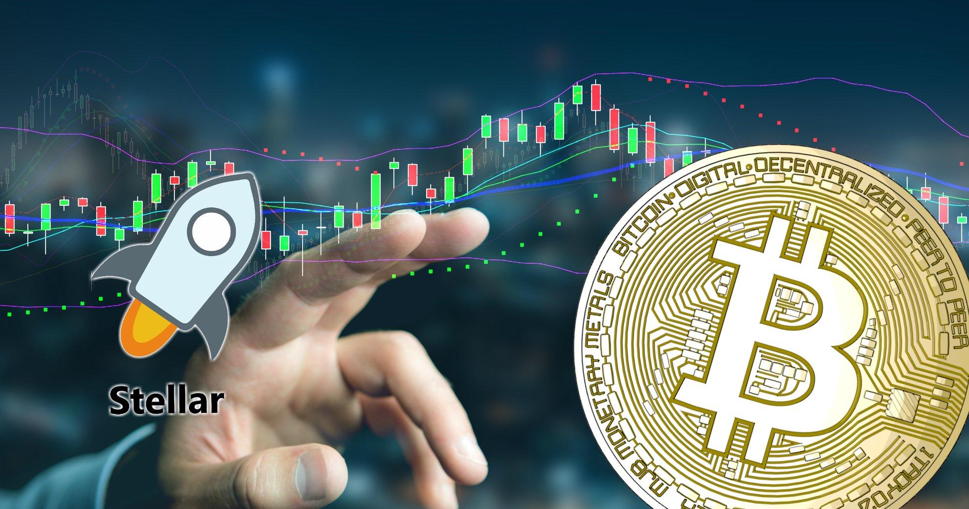 Kryptodygnet: Marknaderna går ner – stellar enda stora valutan som ökar.