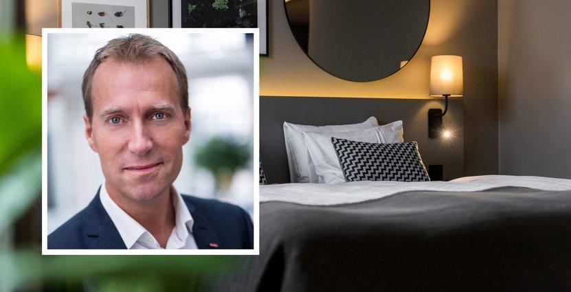 Jens Mathiesen, vd, Scandic spår en förbättring av hotellmarknaden.  FOTO: Pressbild