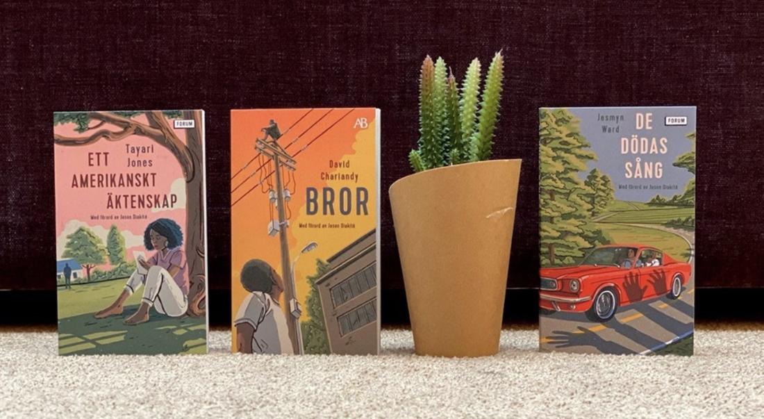 Pocketutgåvorna av tre titlar på temat #blacklivesmatter.