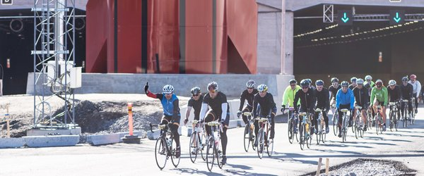 Avançando (e andando de bicicleta) no maior tún...