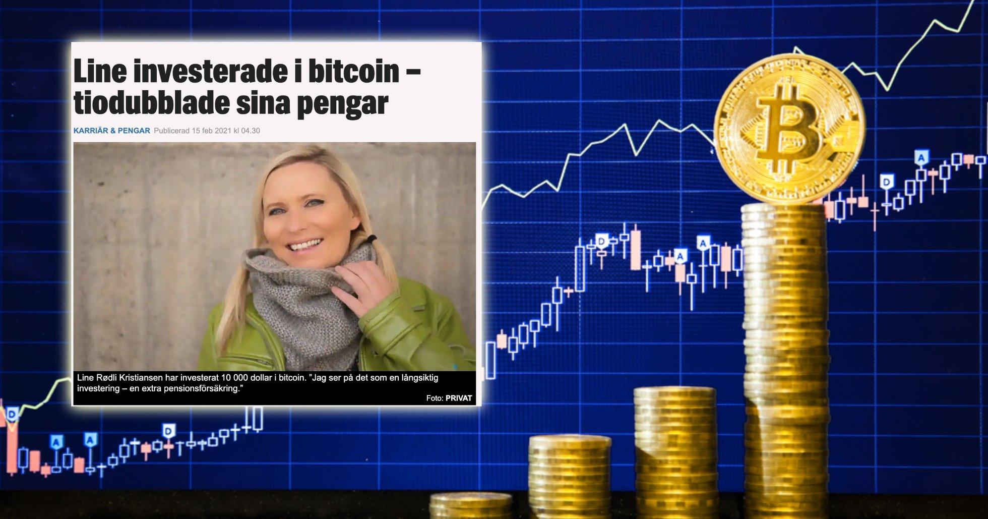 Line, 48, köpte bitcoin 2017 – har sett sin investering öka i värde med 1 500 procent