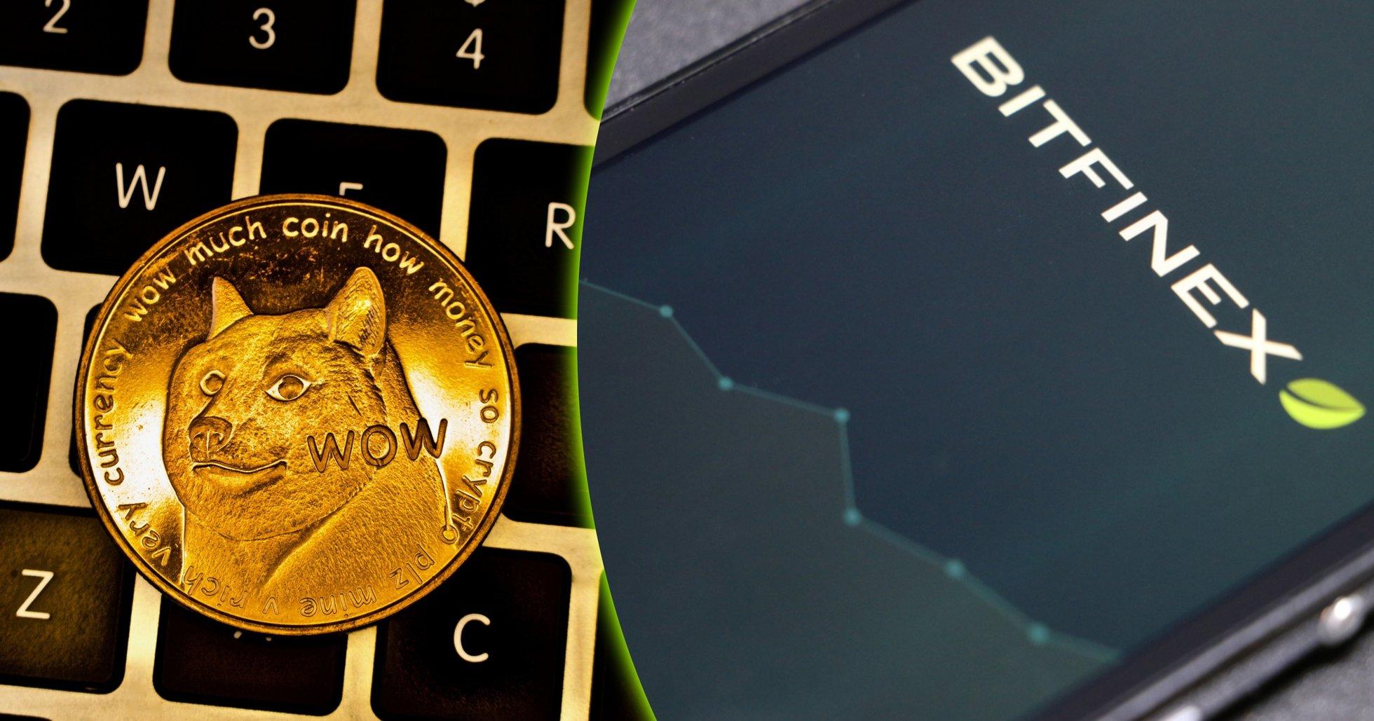 "Efter prisrusning: Nu erbjuder storbörsen Bitfinex handel med ""meme-kryptovalutan"" dogecoin"