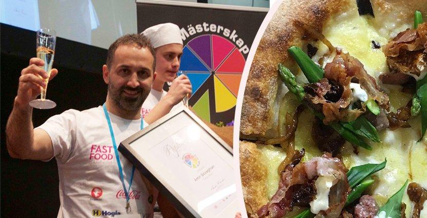 Sveriges bästa pizza och dess receptmakare Amir Bozaghian. Pressbild.