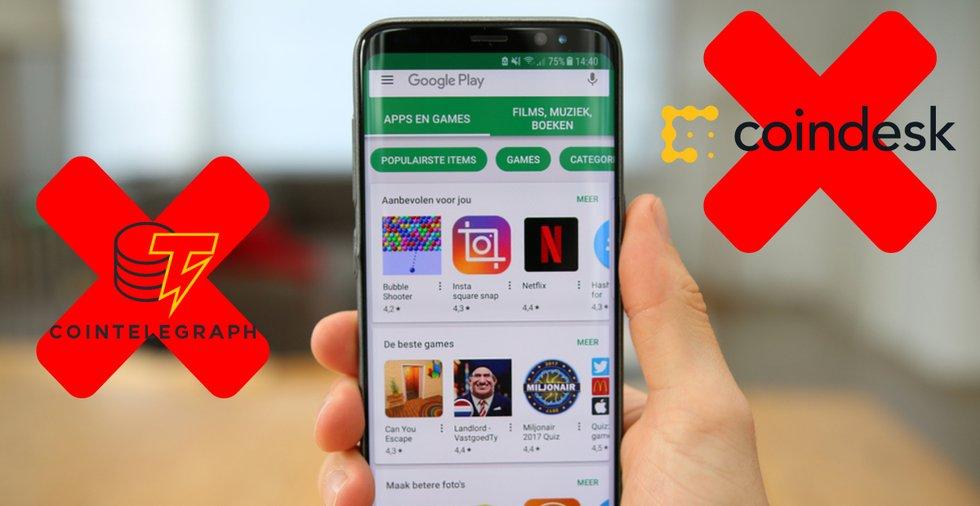 Google Play har tagit ned appar tillhörande två populära kryptosajter