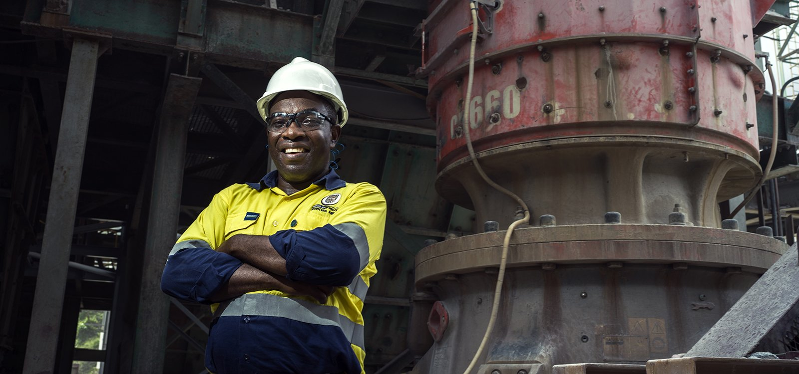 <p>Kofi Arhin, CIL plant engineer, enjoys the challenge of maintaining and improving processing efficiencies to help keep the mill fed.</p>